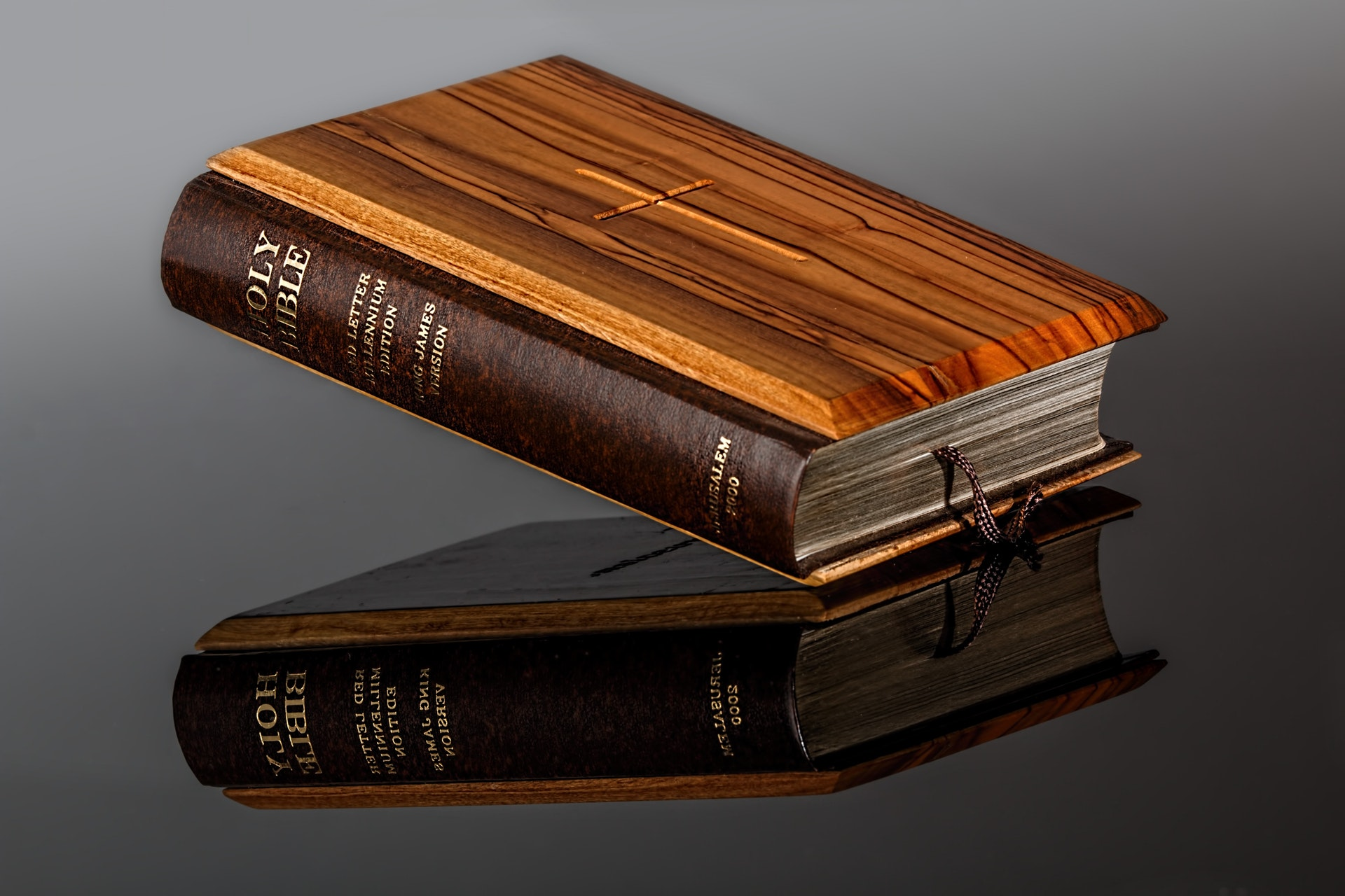 bible with reflection
