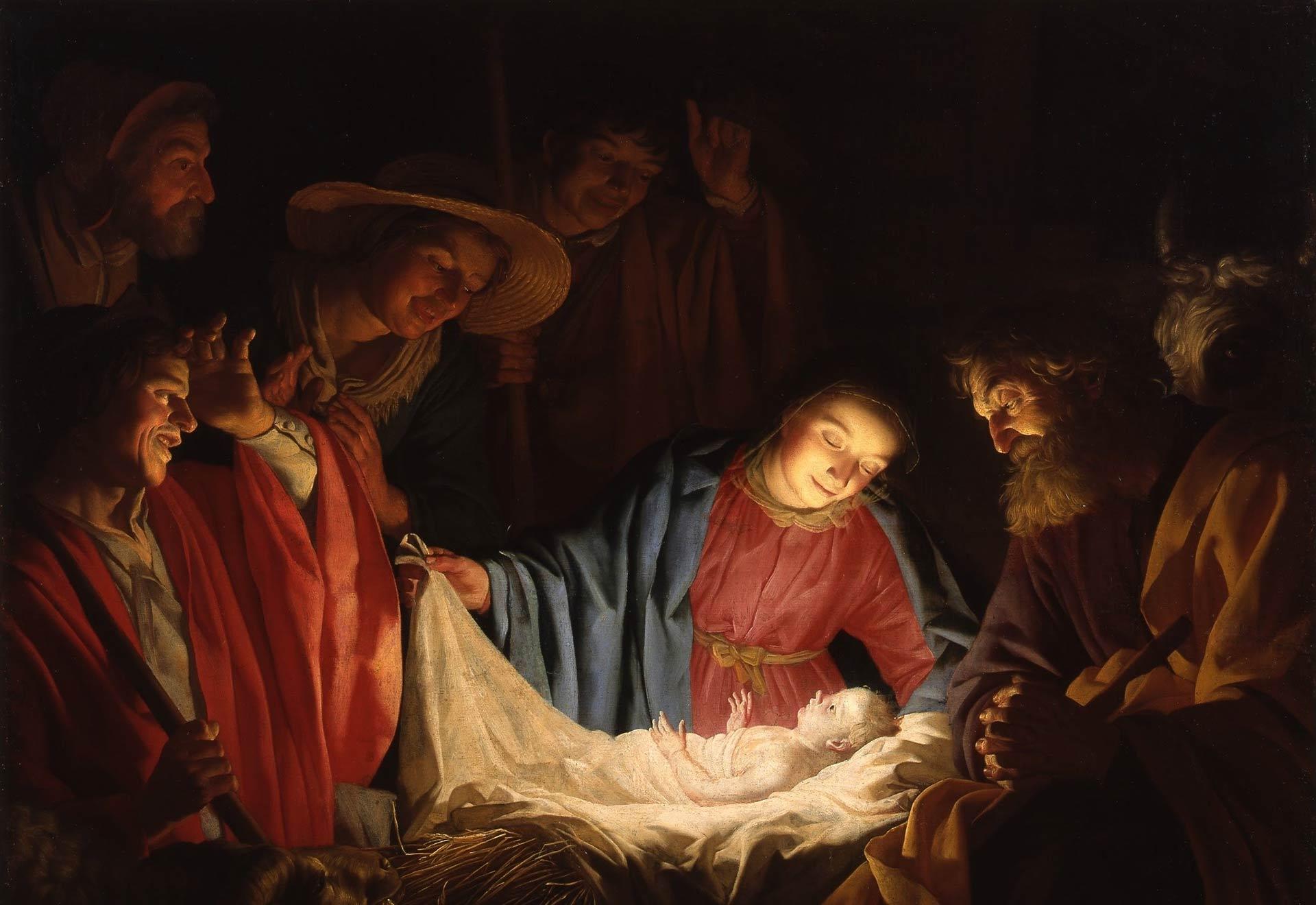 Gerard van Honthorst_-_Adoration of the Shepherds_(1622)